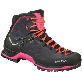 SALEWA MTN Trainer Mid GTX Shoes Dame asphalt/sangria